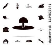 mushroom icon. farm icons... | Shutterstock .eps vector #1234839391