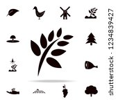 stalk with leaves icon. farm... | Shutterstock .eps vector #1234839427