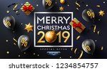 merry christmas 2019 promotion... | Shutterstock .eps vector #1234854757