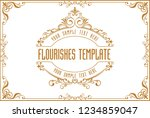gold border frame with thailand ... | Shutterstock .eps vector #1234859047