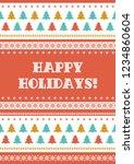 happy holidays winter... | Shutterstock .eps vector #1234860604