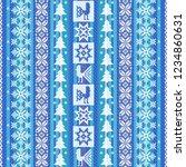 winter seamless pattern in blue ... | Shutterstock .eps vector #1234860631