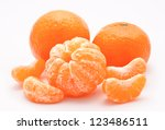 Orange Tangerines Isolated On ...