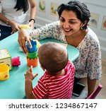 Child Building Blocks With A...