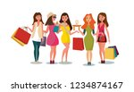 the concept girlfriends... | Shutterstock .eps vector #1234874167
