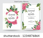 floral wedding invitation... | Shutterstock .eps vector #1234876864