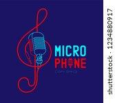 retro microphone logo icon...   Shutterstock .eps vector #1234880917