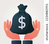 give a full bag of money. big... | Shutterstock .eps vector #1234882951