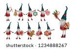 christmas elf with gifts ... | Shutterstock .eps vector #1234888267