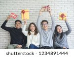lose up group of diverse... | Shutterstock . vector #1234891444