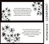 romantic wedding invitation...   Shutterstock . vector #1234893547