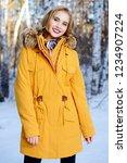 girl walking in forest on... | Shutterstock . vector #1234907224