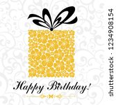 happy birthday card.... | Shutterstock .eps vector #1234908154