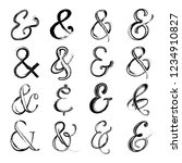 abstract hand drawn ampersand... | Shutterstock .eps vector #1234910827