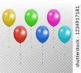wcolor balloon vector... | Shutterstock .eps vector #1234917181