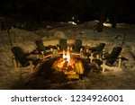 wood burning fire pit... | Shutterstock . vector #1234926001