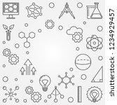 stem square frame. vector... | Shutterstock .eps vector #1234929457