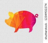 origami boar isolated... | Shutterstock .eps vector #1234932274