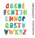 alphabet in scandinavian style. ... | Shutterstock .eps vector #1234932484