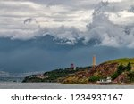 small traditional temple and... | Shutterstock . vector #1234937167
