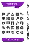 vector icons pack of 25 filled... | Shutterstock .eps vector #1234943734