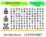 vector icons pack of 120 filled ... | Shutterstock .eps vector #1234943887
