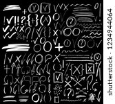 hand drawn sketch signs  icons  ... | Shutterstock .eps vector #1234944064