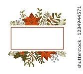 merry christmas winter foliage... | Shutterstock .eps vector #1234944571
