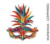 carnival mask. happy carnival ... | Shutterstock .eps vector #1234944601