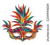 carnival mask. happy carnival ... | Shutterstock .eps vector #1234944604
