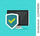 computer protection vector icon ... | Shutterstock .eps vector #1234948381
