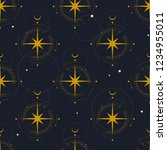 vector seamless pattern. golden ... | Shutterstock .eps vector #1234955011