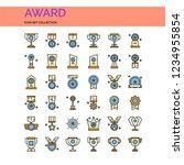 award icons set. ui pixel...