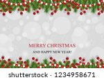 christmas background with... | Shutterstock .eps vector #1234958671