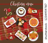 christmas delicious traditional ... | Shutterstock .eps vector #1234959787