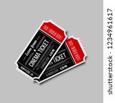cinema ticket isolated on white ... | Shutterstock .eps vector #1234961617
