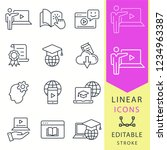 e learning line icons. set of... | Shutterstock .eps vector #1234963387