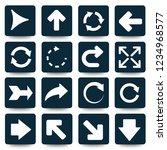 arrow vector icon set | Shutterstock .eps vector #1234968577