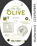 organic olive oil label... | Shutterstock . vector #1234969894