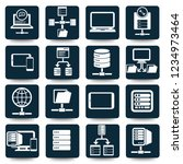 network and database vector... | Shutterstock .eps vector #1234973464