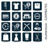 shopping vector icon set | Shutterstock .eps vector #1234982701