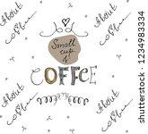 hand drawn lettering  slogan... | Shutterstock .eps vector #1234983334