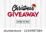 christmas giveaway. vector... | Shutterstock .eps vector #1234987384