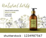 natural herbal cosmetic. 3d... | Shutterstock .eps vector #1234987567