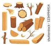 wood log and trunk. cartoon... | Shutterstock .eps vector #1234994914