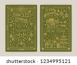 set of vertical christmas and... | Shutterstock .eps vector #1234995121