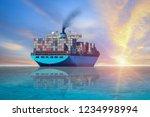 Cargo Ship Sailing In The Sea ...