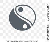 yin yang icon. trendy flat... | Shutterstock .eps vector #1234999354