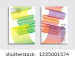 blended covers with gradient... | Shutterstock .eps vector #1235001574