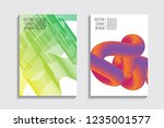 blended covers with gradient... | Shutterstock .eps vector #1235001577